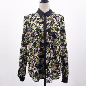 NWT. Urban Outfitters Button Down Floral Blouse